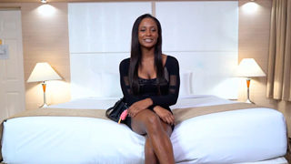 Black Teen With Big Tits On Her First Porn Shoot